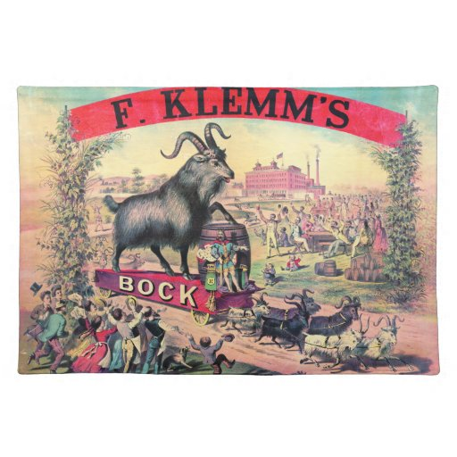 Vintage Bock Beer Ad 1890 Placemats