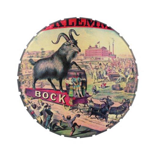 Vintage Bock Beer Ad 1890 Candy Tins