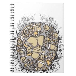 vintage body parts together spiral notebook