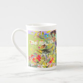 Vintage Bohemian Songbirds Spring Green Tea Cup