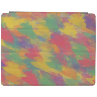 vintage Bohemian style colorful brushstrokes iPad Cover