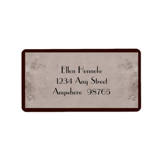 Vintage Bohemian Woman Label
