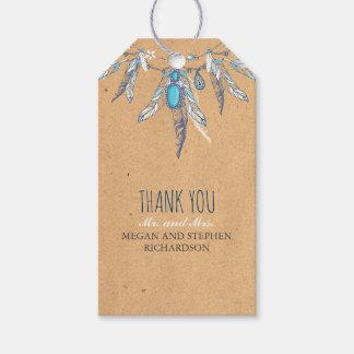 vintage boho wedding gift tags