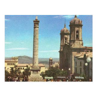 Vintage Bolivia, Polosi, Cathedral  Column Postcard