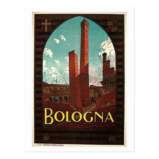 Vintage Bologna 1920s Italian travel ad Post Cards