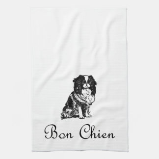 Vintage Bon Chien Good Dog Pet Tea Towel