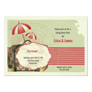 Bon voyage invitations announcements zazzle au vintage bon voyage postcard invitation stopboris Image collections