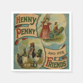 Vintage book club party any purpose napkins disposable serviette