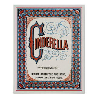 Vintage Book Cover Cinderella Print