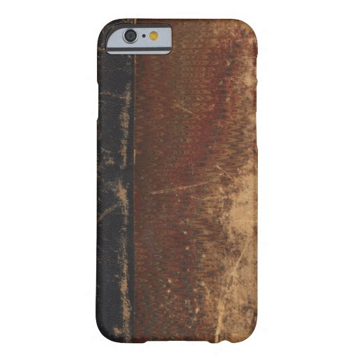 Vintage book cover, retro faux leather bound iPhone 6 case