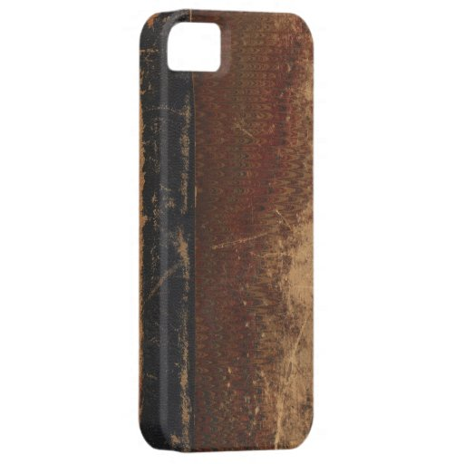 Vintage book cover, retro faux leather bound iPhone 5 covers