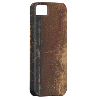 Vintage book cover, retro faux leather bound iPhone 5 cases