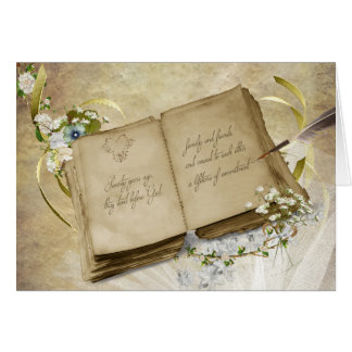 Vintage book for 70th Wedding Anniversary Greeting Card