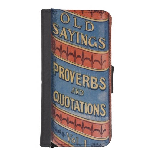 Vintage Book Old Sayings Retirement Granparent Gag Phone Wallets