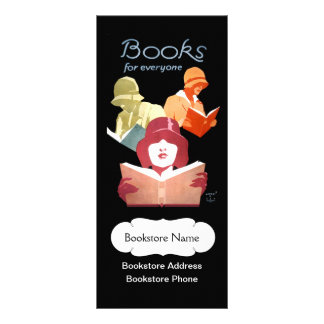 Vintage Book Store or Library Personalized Rack Card