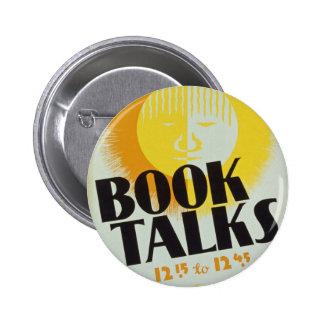 """Vintage """"Book Talks"""" Badge"""