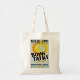 "Vintage ""Book Talks"" Tote Bag"