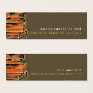 Vintage Books, Bookmark Mini Business Card