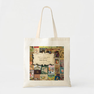Vintage Books Bring A Book Baby Shower Tote Bag