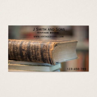 Vintage books Vintage second hand bookstore Business Card