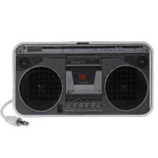 Vintage Boombox Cassette Deck Speakers