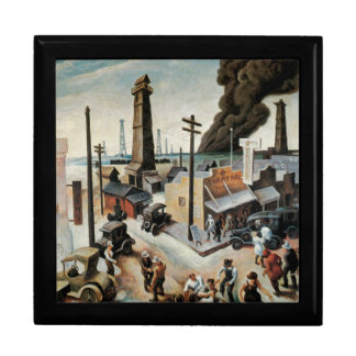 Vintage Boomtown Oil Painting Gift Box