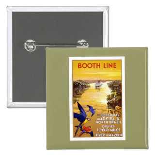 Vintage Booth Line Amazon Pinback Buttons