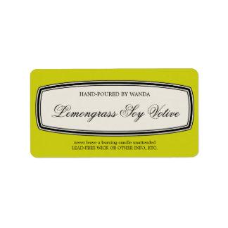 Vintage Border Handmade Candle Votive Label, Address Label