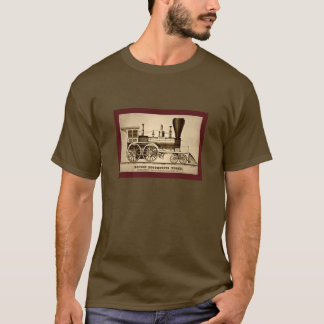 Vintage Boston Locomotive Train Engine 1854 litho T-Shirt