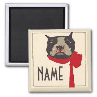 Vintage Boston Terrier, add name Magnet