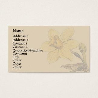 Vintage Botanical Art Business Card