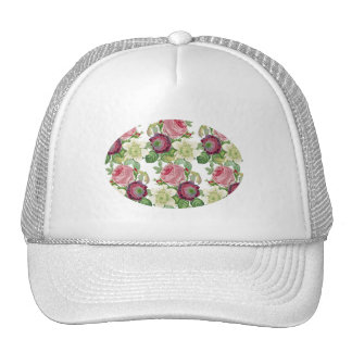 Vintage Botanical Blossom Country Chic Cap
