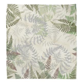 Vintage Botanical Ferns Leaves Bandana