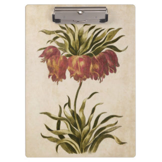 Vintage Botanical Floral Crown Imperial Clipboard
