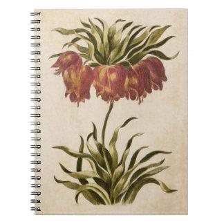 Vintage Botanical Floral Crown Imperial Spiral Notebook