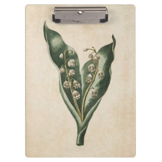 Vintage Botanical Floral Lily of the Valley Clipboard