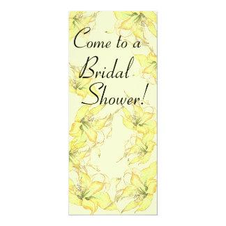 Vintage Botanical Flowers Bridal Shower Invitation