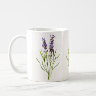 Vintage Botanical Lavender Herb Plant Sprigs Coffee Mug