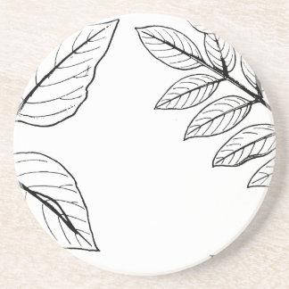 Vintage Botanical Leaves Coaster