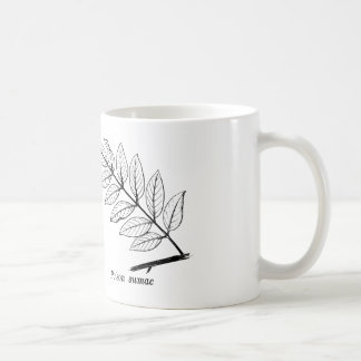 Vintage Botanical Leaves Coffee Mug