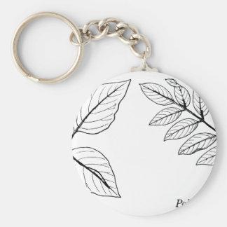 Vintage Botanical Leaves Key Ring