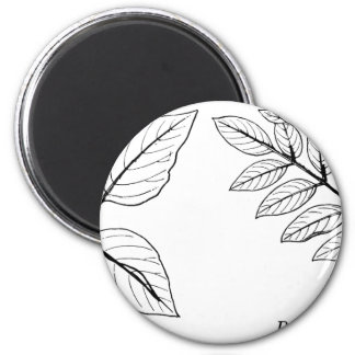 Vintage Botanical Leaves Magnet