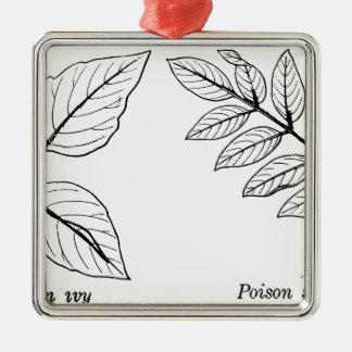 Vintage Botanical Leaves Metal Ornament