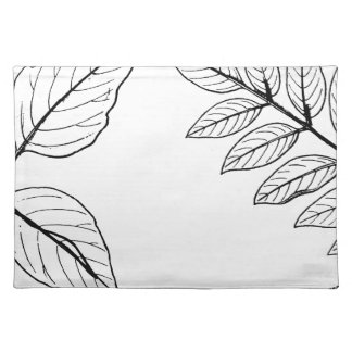 Vintage Botanical Leaves Placemat
