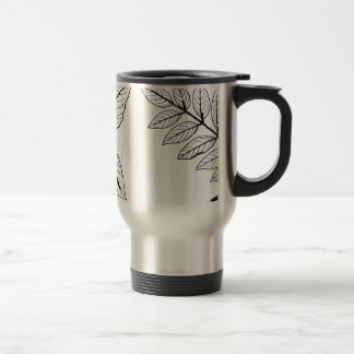 Vintage Botanical Leaves Travel Mug