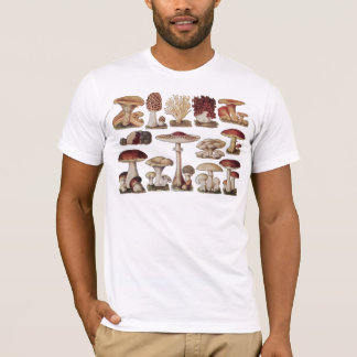Vintage Botanical Mushrooms T-Shirt