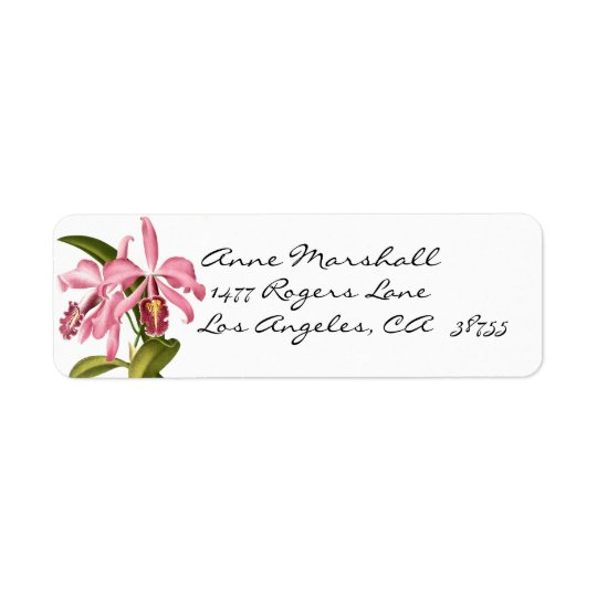 Vintage Botanical Orchids Avery Label