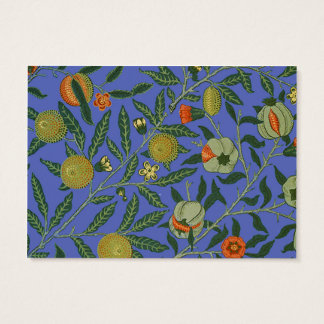 Vintage Botanical Pomegranate Pattern Wallpaper Business Card