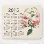 vintage botanical print 2015 calendar mouse pad