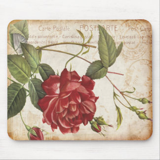 Vintage Botanical Rose Mousepad